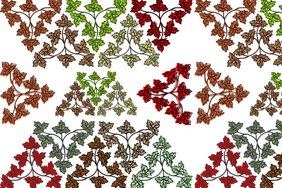 Leaf Hand Drawn Vintage Decorative Graphic Backgrounds By asgiaiko