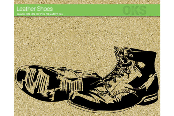Download Free Leather Boots Shoes Svg Vector Graphic By Crafteroks for Cricut Explore, Silhouette and other cutting machines.