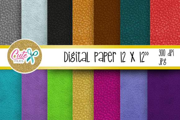 Leather Digital Paper, Colorful Digital Paper Graphic Textures By Cute files