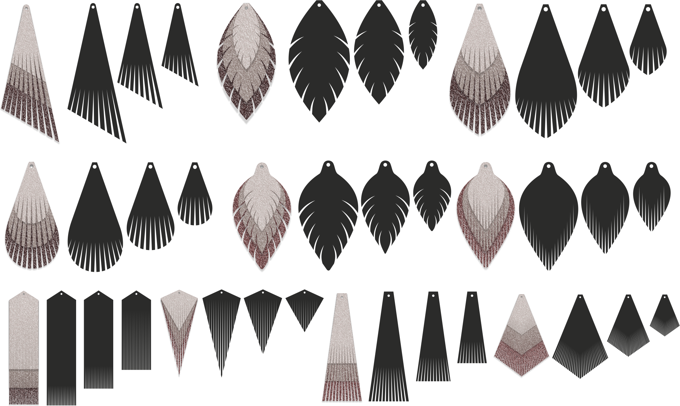 Download Free Leather Earrings Earrings Svg Pendant Template Cut Files for Cricut Explore, Silhouette and other cutting machines.
