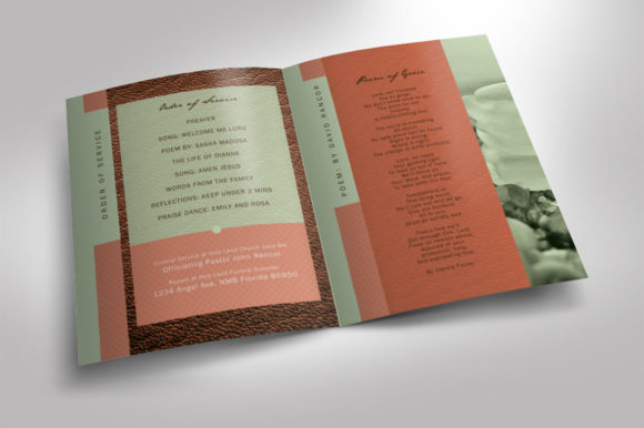 Download Free Leather Funeral Program Template Graphic By Seraphimchris for Cricut Explore, Silhouette and other cutting machines.