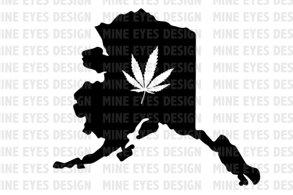 Print on Demand: Legal Alaska Weed State Graphic Icons By Mine Eyes Design - Image 1
