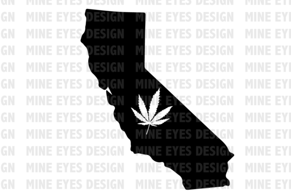 Legal California Weed State SVG Graphic Icons By Mine Eyes Design - Image 1