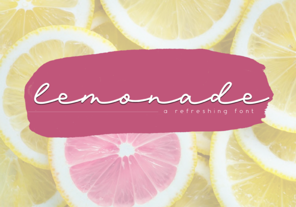 Print on Demand: Lemonade Script & Handwritten Font By KA Designs