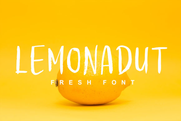 Print on Demand: Lemonadut Display Font By Lettersiro Co.