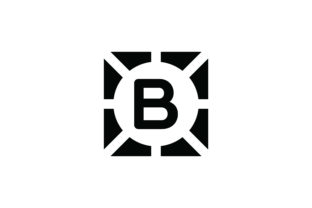 Letter B Icon Graphic Icons By Cowboy Studios