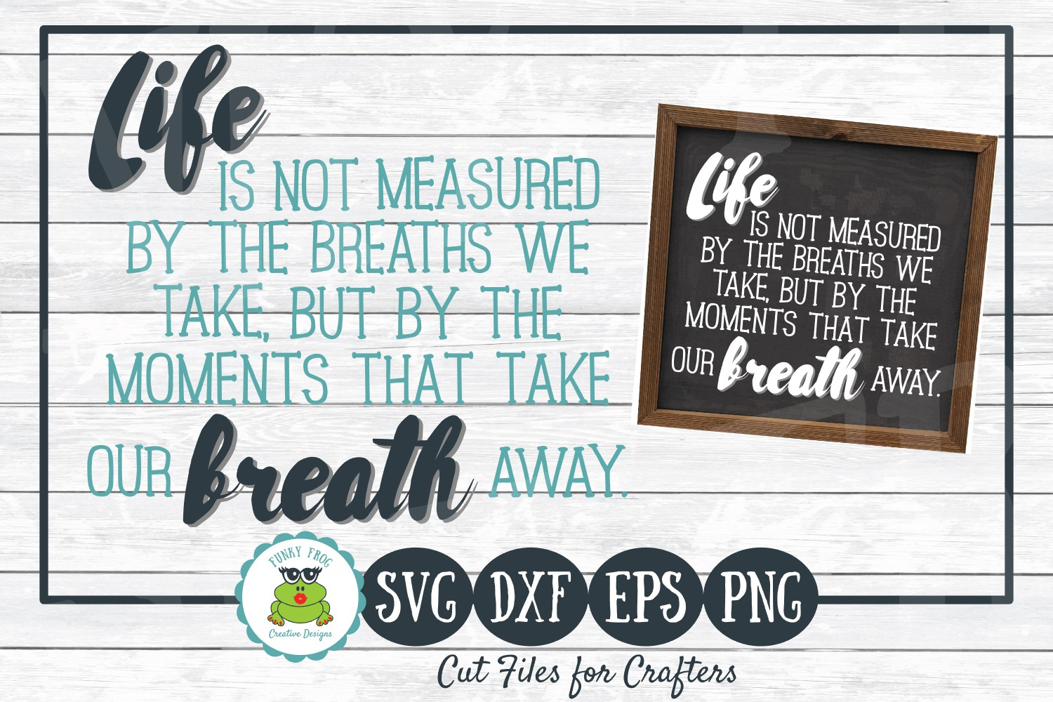 Download Free Life Is Not Measured Graphic By Funkyfrogcreativedesigns for Cricut Explore, Silhouette and other cutting machines.