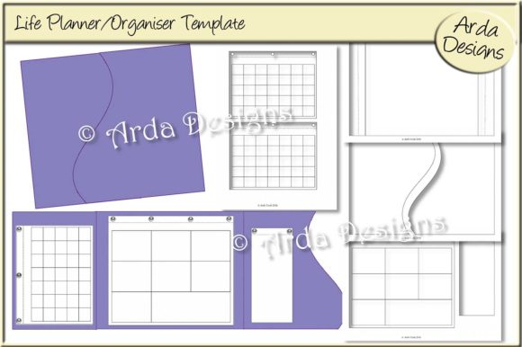 Print on Demand: Life Planner CU Template Graphic Print Templates By Arda Designs