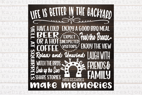 Download Free Life Is Better In The Backyard Svg Graphic By Kayla Griffin for Cricut Explore, Silhouette and other cutting machines.