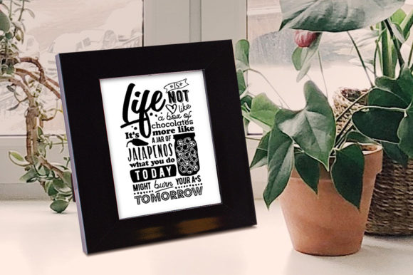 Download Free Life Is Not Like A Box Of Chocolates Grafik Von for Cricut Explore, Silhouette and other cutting machines.