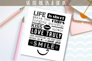 Life is Short SVG Inspirational Quote Graphic By Vector City Skyline