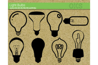 Download Free Light Bulb Bundle Vector Cricut Graphic By Crafteroks Creative for Cricut Explore, Silhouette and other cutting machines.