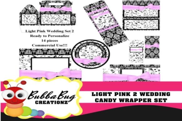 Light Pink Wedding Set 2 Graphic Crafts By BUBBABUG