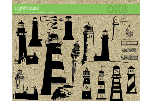 Print on Demand: Lighthouse Vector Graphic Crafts By CrafterOks