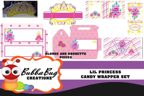 Lil Princess Candy Wrapper Set Graphic