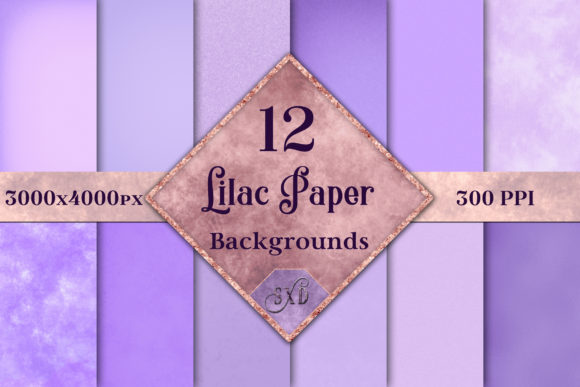 Lilac Paper Backgrounds 12 Image Set Grafik von SapphireXDesigns