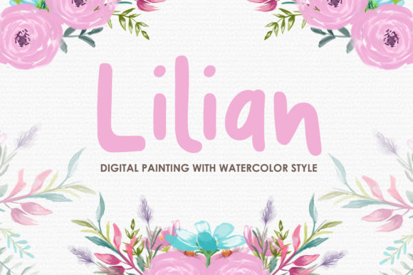 Lilian Watercolor Floral Style Clipart Graphic Illustrations By Kagunan Arts