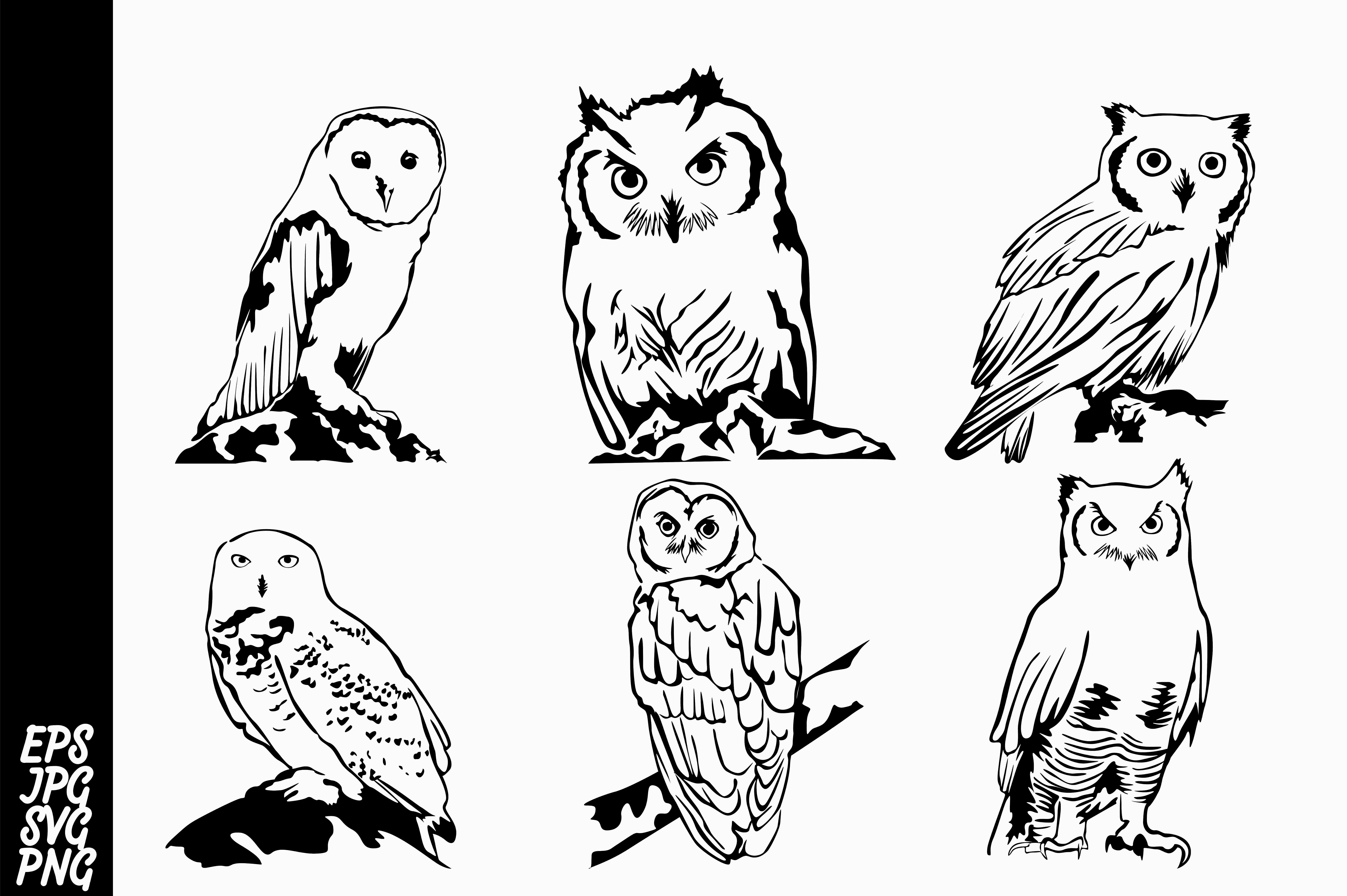 Download Free Line Art Owl Bundle Graphic By Arief Sapta Adjie Creative Fabrica for Cricut Explore, Silhouette and other cutting machines.