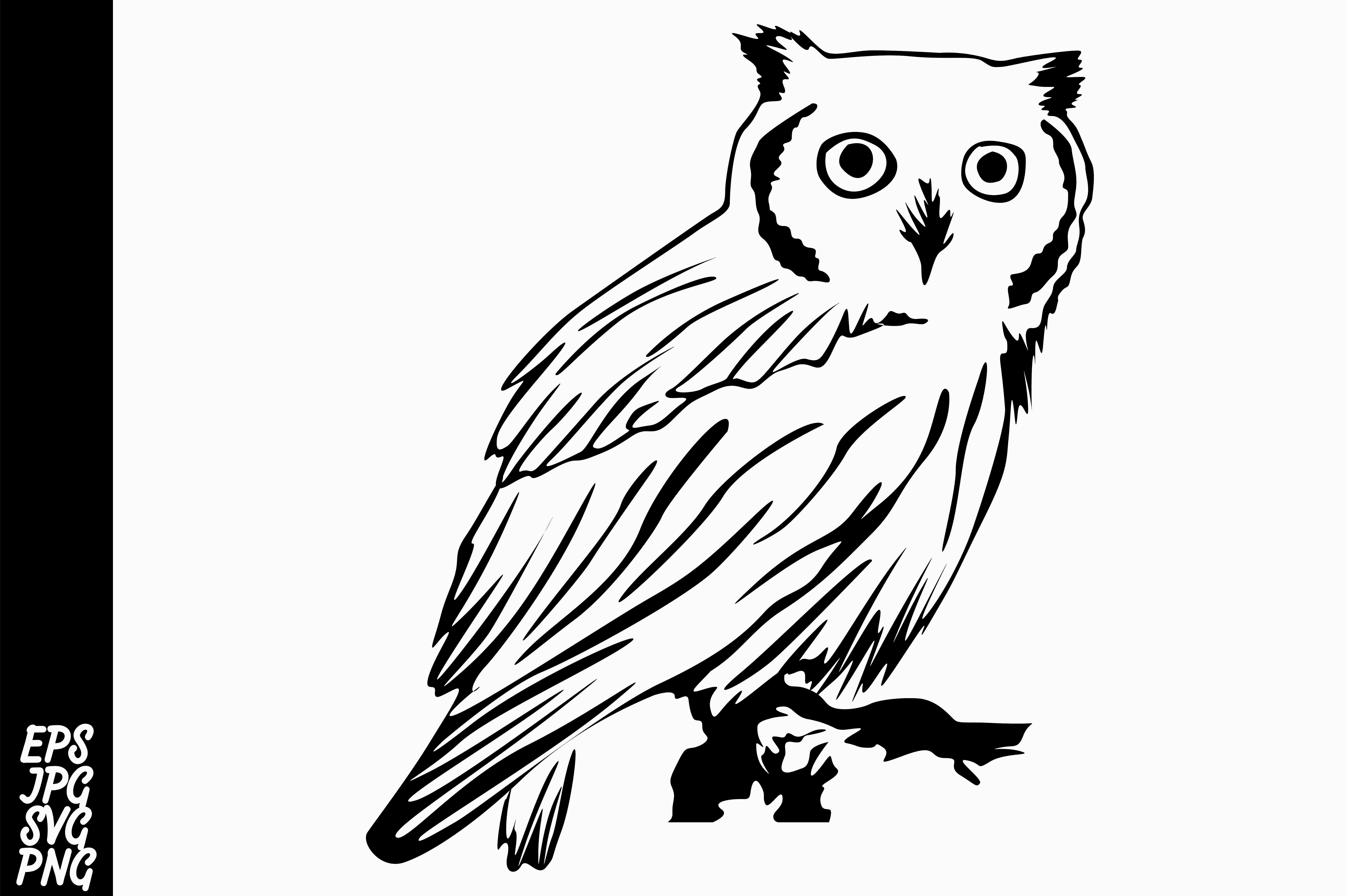 Download Free Line Art Owl Graphic By Arief Sapta Adjie Creative Fabrica for Cricut Explore, Silhouette and other cutting machines.