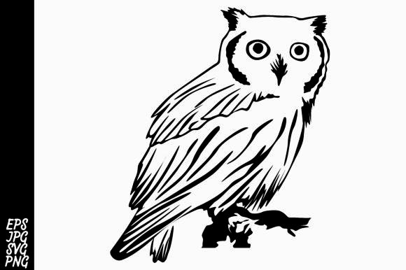 Download Free Line Art Owl Grafik Von Arief Sapta Adjie Creative Fabrica for Cricut Explore, Silhouette and other cutting machines.