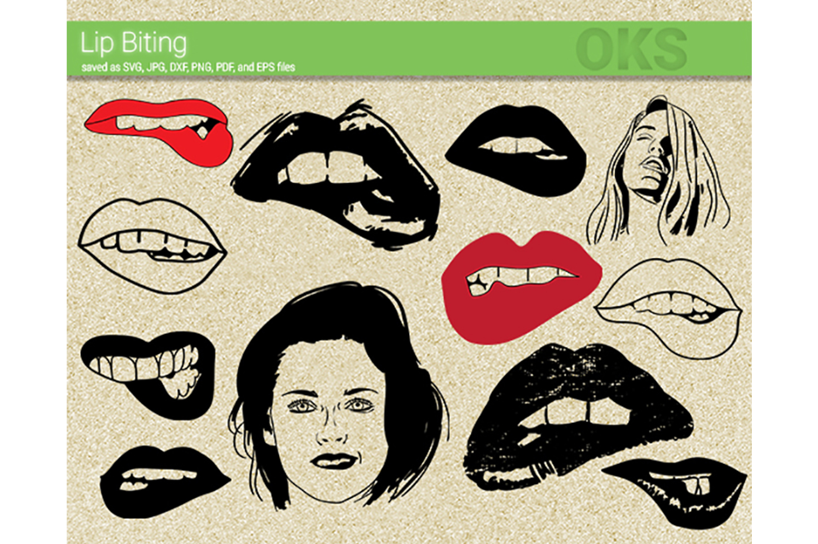 Lip Biting Svg Vector Graphic By Crafteroks Creative Fabrica
