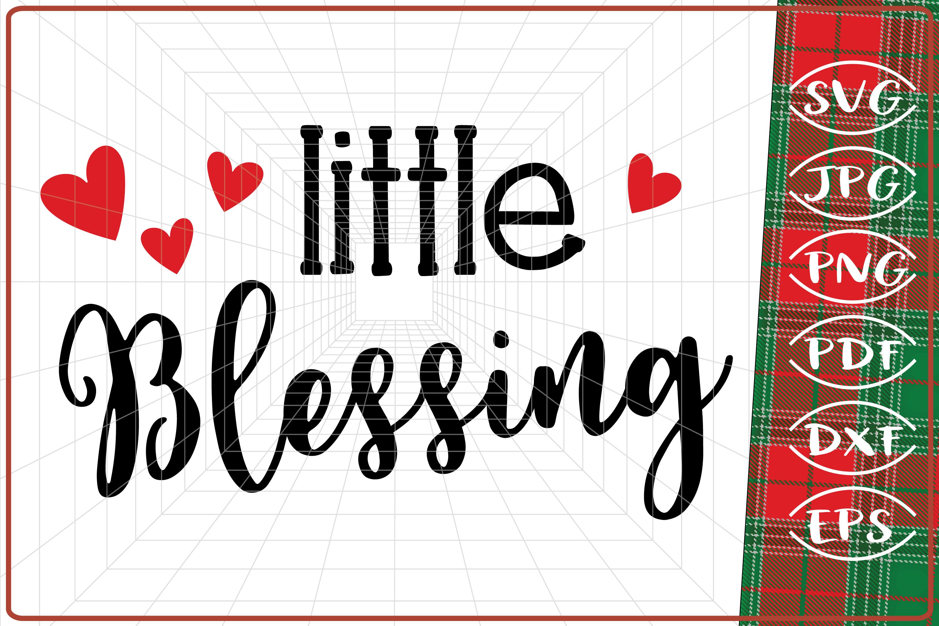 Download Free Little Blessing Christmas Graphic By Cute Graphic Creative for Cricut Explore, Silhouette and other cutting machines.