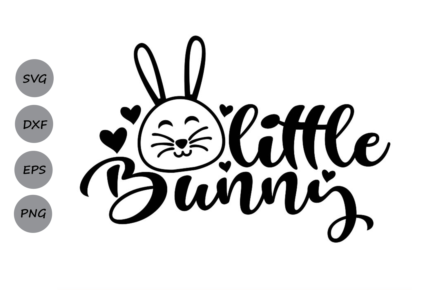 Download Free Little Bunny Svg Graphic By Cosmosfineart Creative Fabrica for Cricut Explore, Silhouette and other cutting machines.