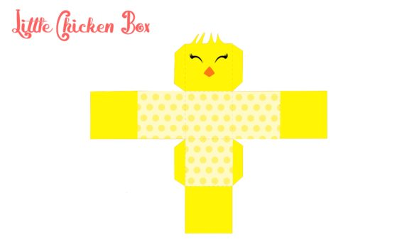 Print on Demand: Little Chicken Box Graphic 3D SVG By jgalluccio