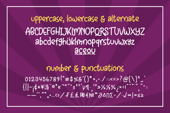 Print on Demand: Little Clusters Display Font By Abodaniel - Image 13
