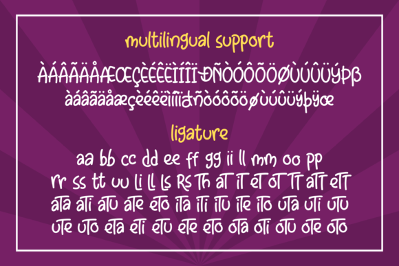 Print on Demand: Little Clusters Display Font By Abodaniel - Image 14