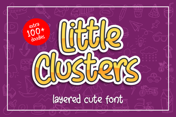 Print on Demand: Little Clusters Display Font By Abodaniel - Image 1