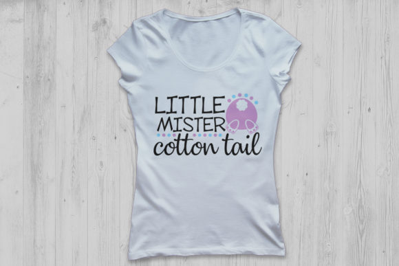 Download Free Little Mister Cotton Tail Svg Graphic By Cosmosfineart for Cricut Explore, Silhouette and other cutting machines.