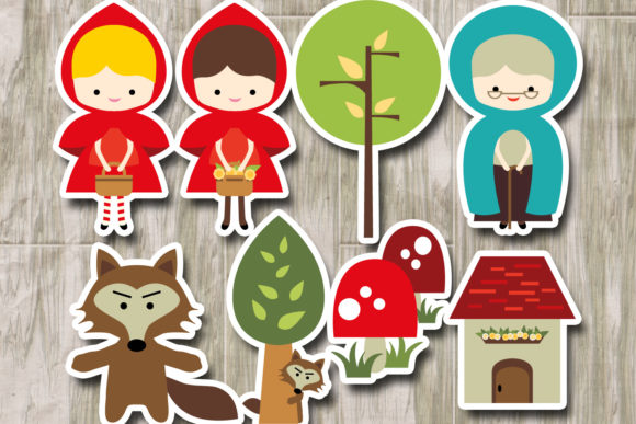 Download Free Little Red Riding Hood Grafico Por Revidevi Creative Fabrica for Cricut Explore, Silhouette and other cutting machines.