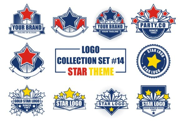 Print on Demand: Logo Collection Set with Star Theme Graphic Logos By azkaryzki