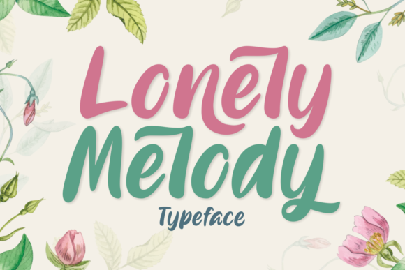 Print on Demand: Lonely Melody Script & Handwritten Font By Aysa - 7NTypes