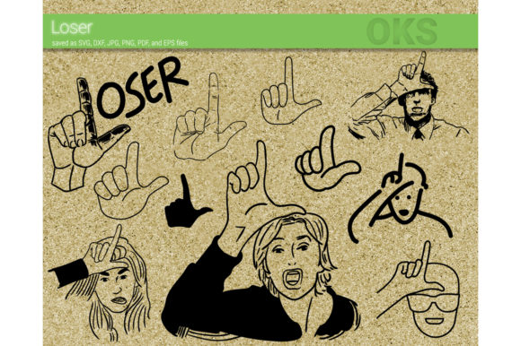 Download Free Loser Hand Svg Vector Graphic By Crafteroks Creative Fabrica for Cricut Explore, Silhouette and other cutting machines.