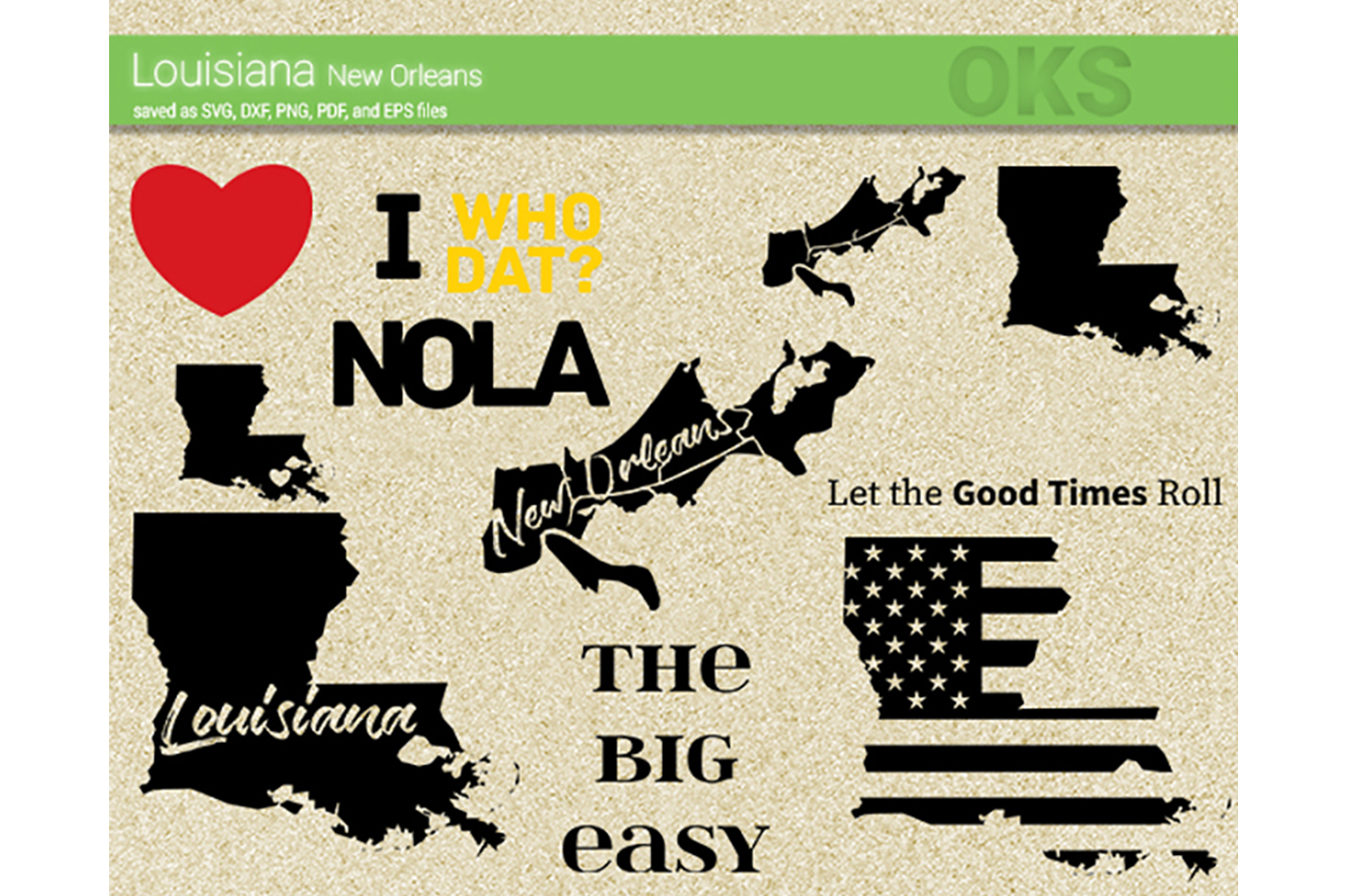 Download Free Louisiana New Orleans Svg Vector Graphic By Crafteroks for Cricut Explore, Silhouette and other cutting machines.