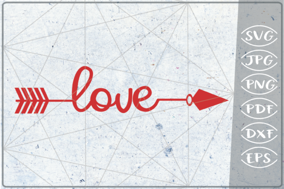 Download Free Love Arrow Crafters Printables Graphic By Cute Graphic for Cricut Explore, Silhouette and other cutting machines.
