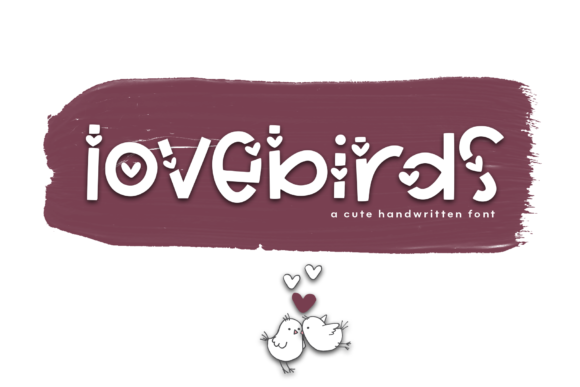 Print on Demand: Love Birds Display Font By KA Designs