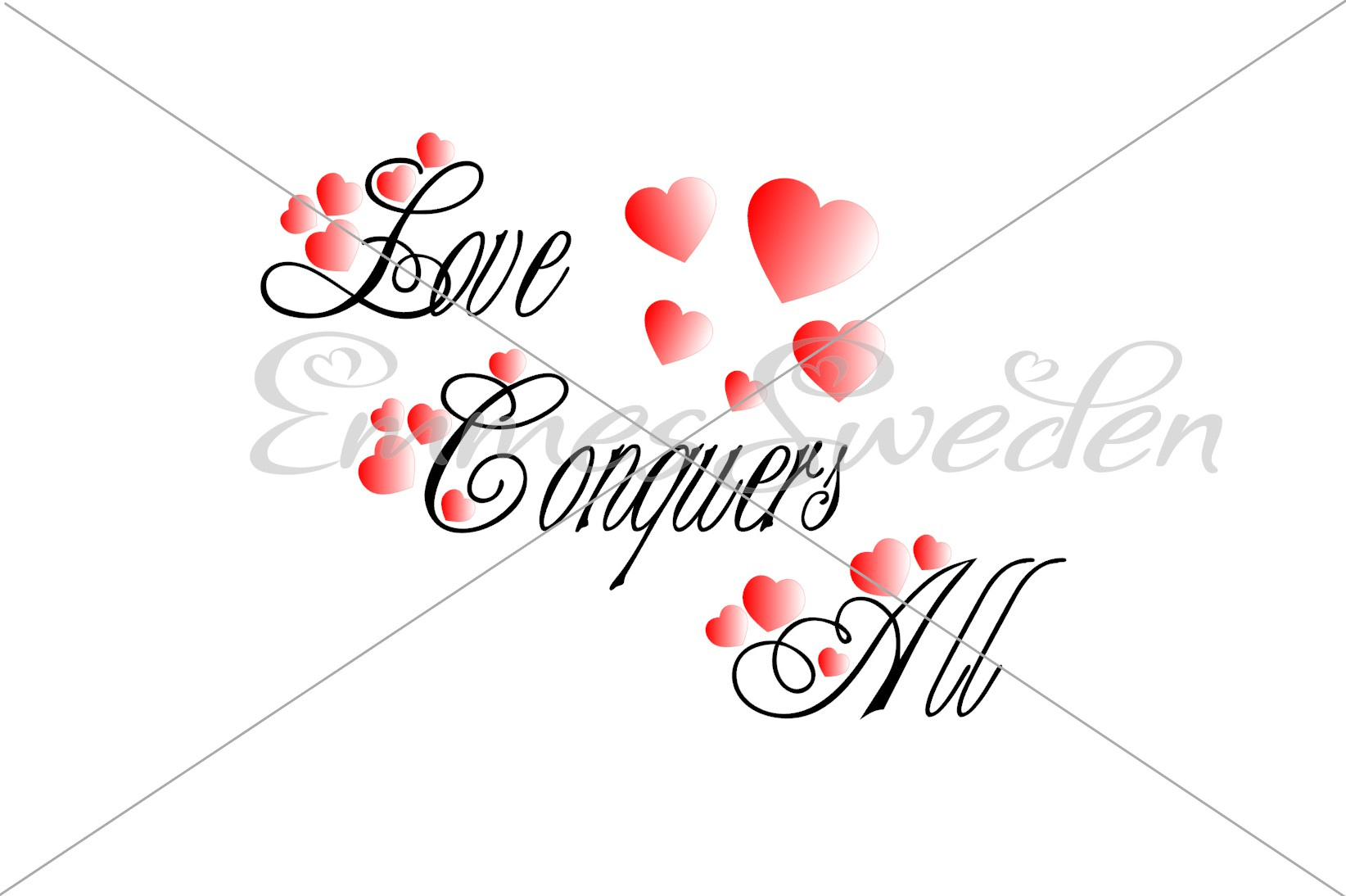 Download Free Love Conquers All Svg Heart Svg Graphic By Emmessweden for Cricut Explore, Silhouette and other cutting machines.