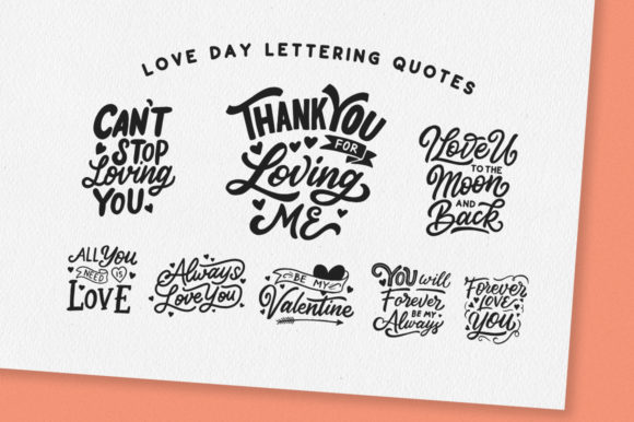 Download Free Love Day Lettering Quotes Graphic By Weape Design Creative Fabrica for Cricut Explore, Silhouette and other cutting machines.