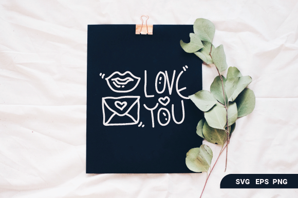 Love Greeting Card Graphic By OKEVECTOR
