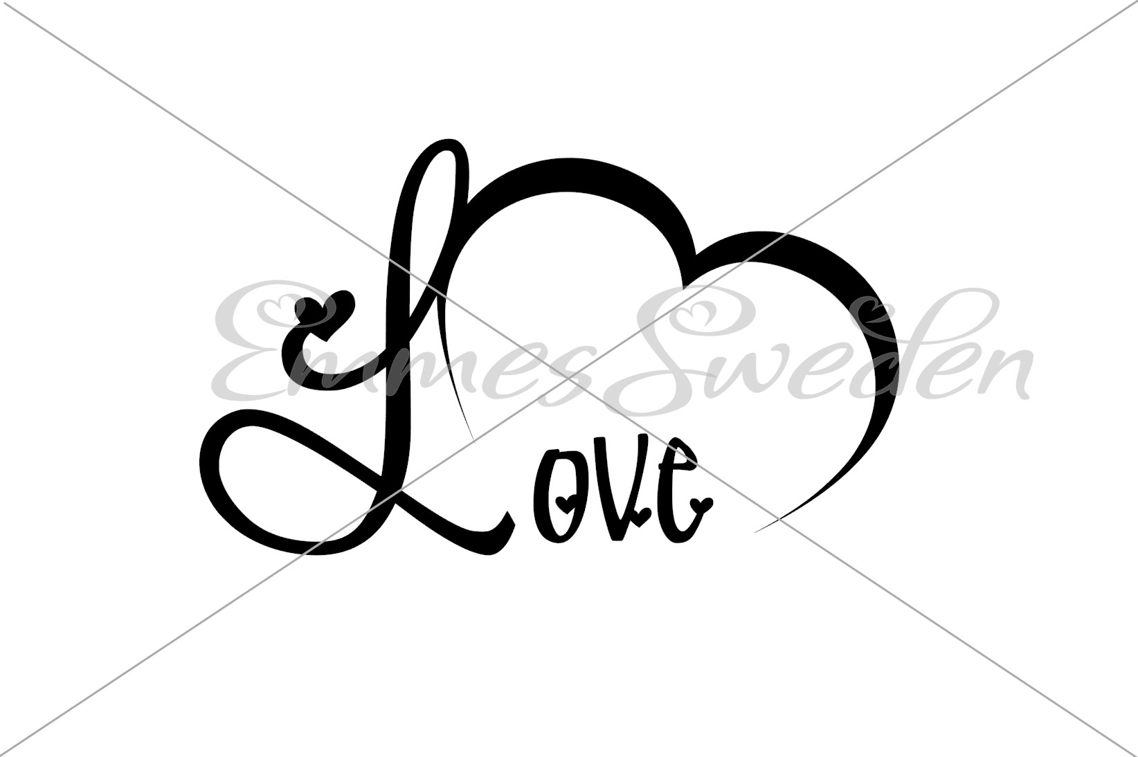 Download Free Love Heart Valentines Day Svg File Graphic By Emmessweden for Cricut Explore, Silhouette and other cutting machines.