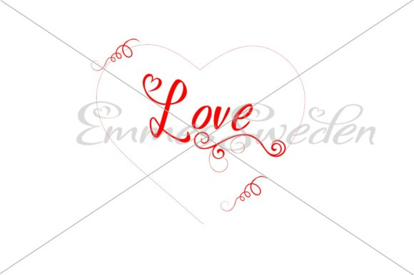 Print on Demand: Love, Heart, Valentines Day  Graphic Illustrations By EmmesSweden