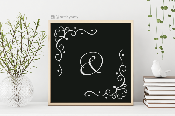 Lovely Arabesque Corners SVG Graphic By artsbynaty Image 3