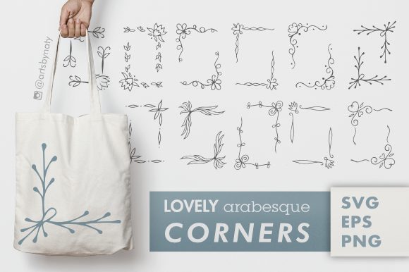 Lovely Arabesque Corners SVG Graphic By artsbynaty Image 1