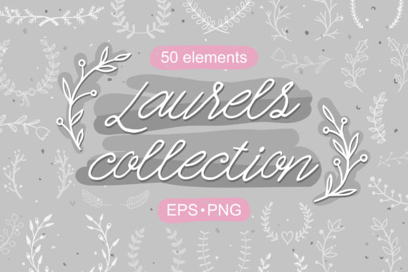 Lovely Laurels Collection Graphic Illustrations By redchocolate
