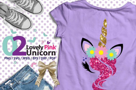 Lovely Pink Unicorn 02 High Res Svg Graphic By 3Motional