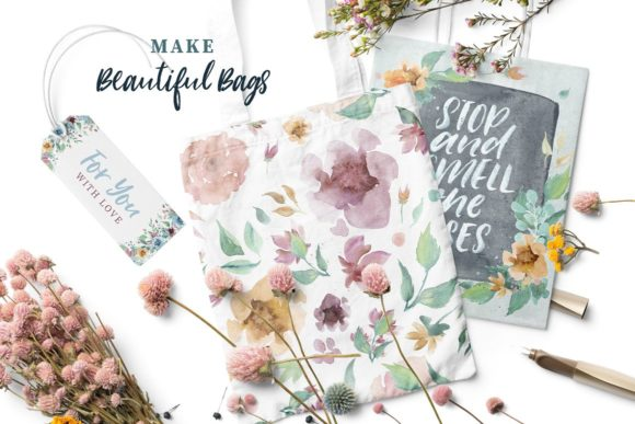 Loving Saskia Font and Watercolor Bundle Graphic Illustrations By Creativeqube Design - Image 15