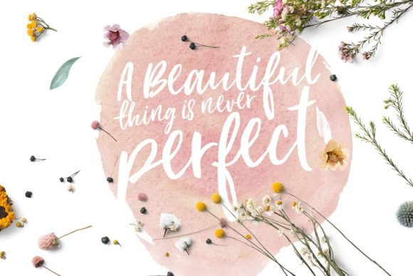Loving Saskia Font and Watercolor Bundle Graphic Illustrations By Creativeqube Design - Image 16